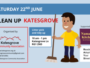 22 June - litter pick and tidy up in Katesgrove
